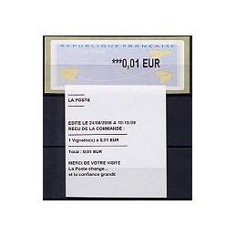 FRANCIA (2004). Aviones papel (2). ATM nuevo + recibo