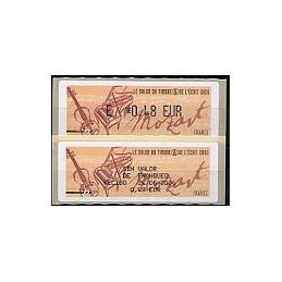 FRANCIA (2006). Salon - Mozart. ATM nuevo + recibo (ES)