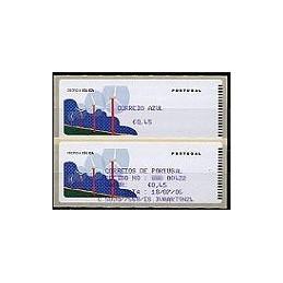 PORTUGAL (06). Energia eolica. C. AZUL. Crouzet/azul. ATM + rec.