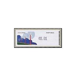 PORTUGAL (06). Energia eolica - Crouzet/azul. ATM nuevo (0,01)