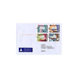SUIZA (2001). Transporte postal. Sobre a España