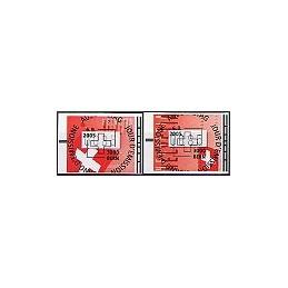SUIZA (2005). Banderas de Suiza. ATMs, matasello