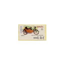 ESPAÑA. 85. Mobylette AU-HT. 6E. ATM nuevo (0,01)