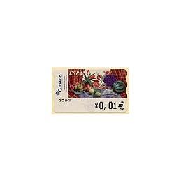 ESPAÑA. 90. Sammer G. Bodegón Tulipanes. 4A. ATM nuevo (0,01)