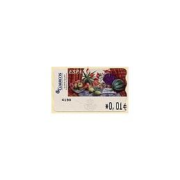 ESPAÑA. 90. Sammer G. Bodegón Tulipanes. 4E. ATM nuevo (0,01)