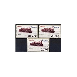 ESPAÑA. 104. Locomotora y ténder. 4A. Serie 3 val.