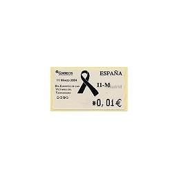 ESPAÑA. 105. 11-M. 4A. ATM nuevo (0,01)