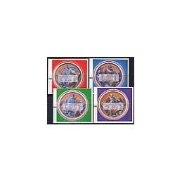 VATICANO (2002). Evangelistas (fibras). ATMs nuevos (00,02)