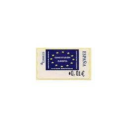 ESPAÑA. 114. Constitución Europea. 4E. ATM nuevo (0,01)