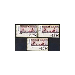 ESPAÑA. 115. J. Carrero. Tarjeta Postal. 4A. Serie 3 val.