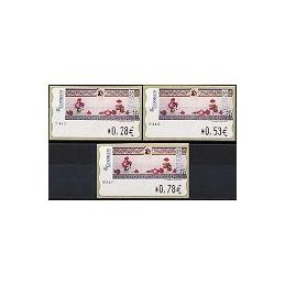 ESPAÑA. 115. J. Carrero. Tarjeta Postal. 4E. Serie 3 val.