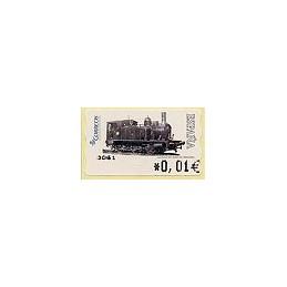 ESPAÑA. 117. Locomotora 1887. 4A. ATM nuevo (0,01)