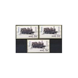 ESPAÑA. 117. Locomotora 1887. 6E. Serie 3 val.