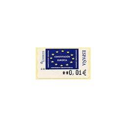 ESPAÑA. 114. Constitución Europea. 5A. ATM nuevo (0,01)