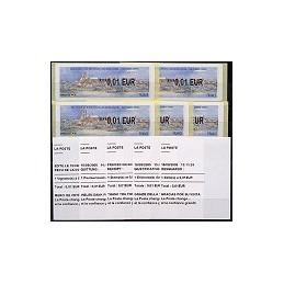 FRANCIA (2006). France - Allemagne. 5 ATMs nuevos + 5 rec.