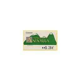 ANDORRA (2005). Montañas verdes- 4. LF-5E. ATM nuevo (0,28)