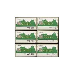 ANDORRA (2005). Montañas verdes- 4. LF-5E. Serie 6 val.