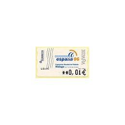 ESPAÑA (2006). 130. España 06 - Málaga. 5A. ATM nuevo (0,01)