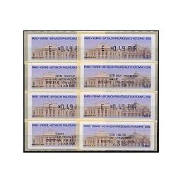 FRANCIA (2006). Paris - Vienne. ATMs nuevos + rec. (x 4)