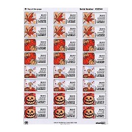 EEUU (2006). 14. Otoño NetStamps. Serie 18 sellos x 4