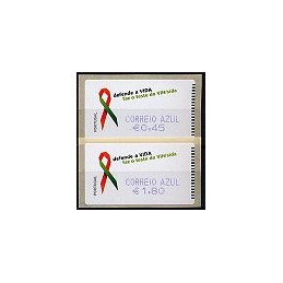 PORTUGAL (2006). SIDA. C. AZUL - SMD. Serie 2 val.