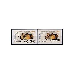 ESPAÑA. 64.1S. Monet Goyon LB. Etiq. control A (N- modif) +sello