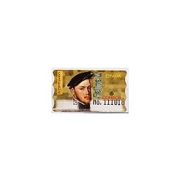 ESPAÑA. 28S. Felipe II. Etiqueta control E (No.)