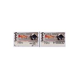 ESPAÑA. 37S. España 2000. Etiq. control PTS-E (N-) + sello