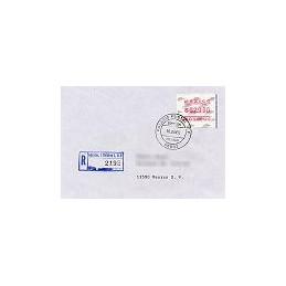 MÉXICO (1992). Frama. Emblema postal (3). Sobre 1r. día (cert.)