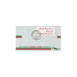 MÉXICO (1992). Frama. Emblema postal (4). Sobre 1r. día (int.)