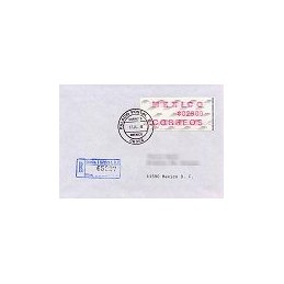 MÉXICO (1992). Frama. Emblema postal (4). Sobre 1r. día (cert.)