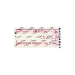 MÉXICO (1994). Frama. Emblema postal (6). ATM valor 0.00