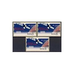 ESPAÑA. 47. Hispasat 1C. PTS-6E. Serie 3 val.