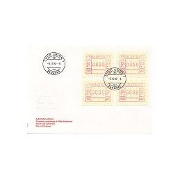 SUIZA (1990). Emblema postal. Sobre primer día (serie)
