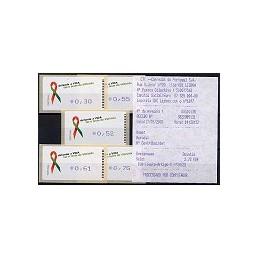 PORTUGAL (2006). SIDA - Amiel. Serie 5 val. + rec. (2) (07)