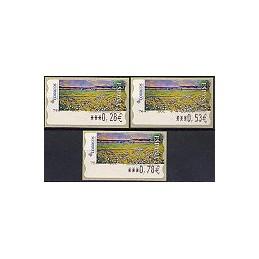 ESPAÑA. 124. Montilla: Flores silvestres. 6E. Serie 3 val.