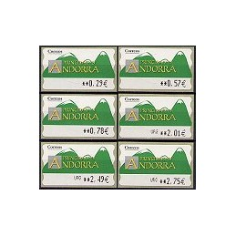 ANDORRA (2006). Montañas verdes- 5. LF-5E. Serie 6 val.