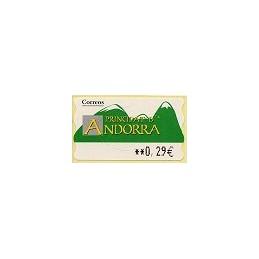 ANDORRA (2006). Montañas verdes- 5. LF-5E. ATM nuevo (0,29)