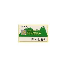 ANDORRA (2006). Montañas verdes- 5. LF-5E. ATM nuevo (URG 2,01)