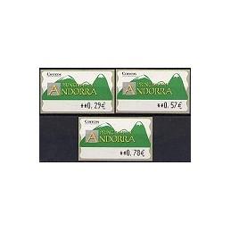 ANDORRA (2006). Montañas verdes- 5. LF-5E. Serie 3 val.