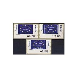 ESPAÑA. 114. Constitución Europea. LF-5E. Serie 3 val.