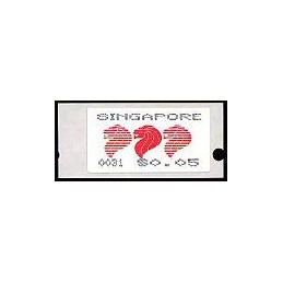 SINGAPUR (1989). Símbolo nacional. ATMs nuevos (x 48)