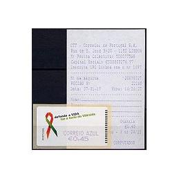 PORTUGAL (2006). SIDA. C. AZUL - SMD. ATM nuevo + rec.