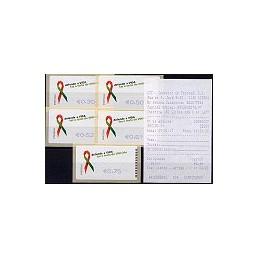 PORTUGAL (2006). SIDA - SMD. Serie 5 val. + rec. (07)
