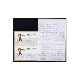 PORTUGAL (2006). SIDA. C. AZUL - SMD. Serie 2 val. + rec. (07)