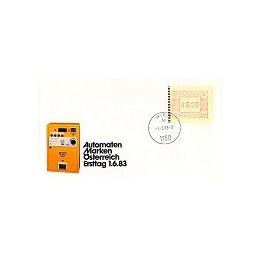AUSTRIA (1983). Emblema postal. Sobre primer día