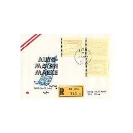 AUSTRIA (1983). Emblema postal. Sobre primer día - serie
