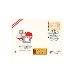 AUSTRIA (1983). Emblema postal. Sobre primer día, certificado