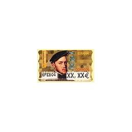 ESPAÑA. 28E. Felipe II. EUR-5A. Etiqueta ajuste