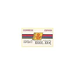 ESPAÑA. 4.3.3. Emblema postal - FNMT. EUR-5A. Etiqueta ajuste
